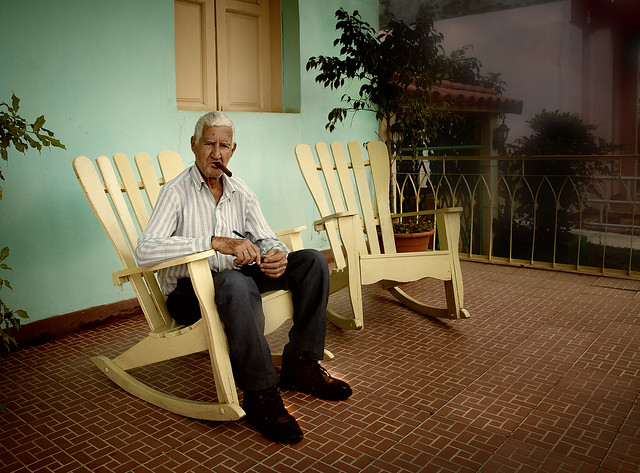 Old Man With Cigar And Rocking Chair Flickr Photo Sharing