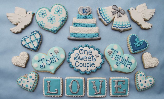 Wedding Cookies for a Candy Bar These are part of the cookies for a cookie