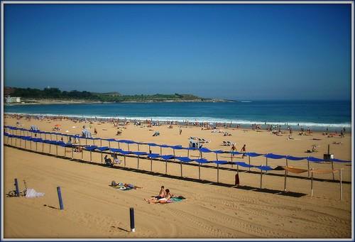 sea beach mar playa september santander cantabria cantábrico sardinero 2011 toldos lcl marcantábrico welcometothenorth sptiembre díadeplaya loretocantero bienvenidosalnorte