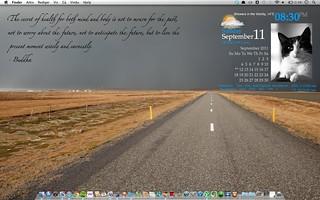Geektool, i like my new homescreen.