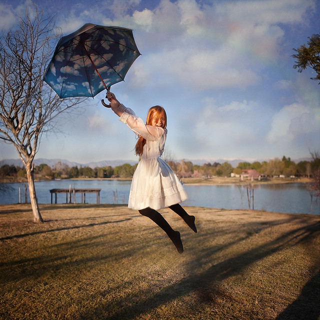 A blustery day... Or... How I stole Mary Poppins' umbrella