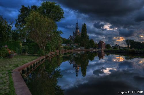 Overschie / 7 minutes after sunset / Rotterdam