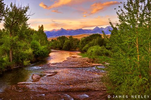 sunset landscape salmon idaho salmonriver hdr 5xp jamesneeley