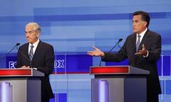 El candidato Romney en un debate electoral. Foto: IowaPolitics.com Flickr account