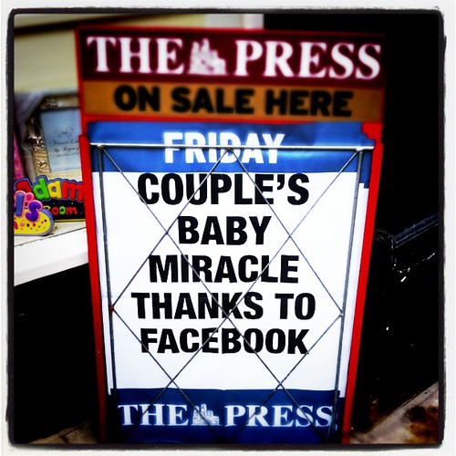 Couple's miracle baby thanks to Facebook
