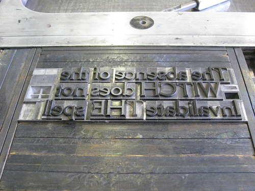 Cheltenham Bold Metal Type, Vanderook Press