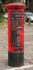 This pillar box was across the street from the fire at World of Reeves.