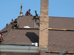 roofer, wall, roof, construction, chimney, brickwork,