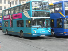 trolleybus(0.0), optare solo(0.0), dennis dart(0.0), tour bus service(0.0), metropolitan area(1.0), vehicle(1.0), transport(1.0), mode of transport(1.0), public transport(1.0), double-decker bus(1.0), land vehicle(1.0), bus(1.0),