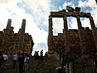 View from the Entrance of The Sun Temple, Baalbek, Lebanon