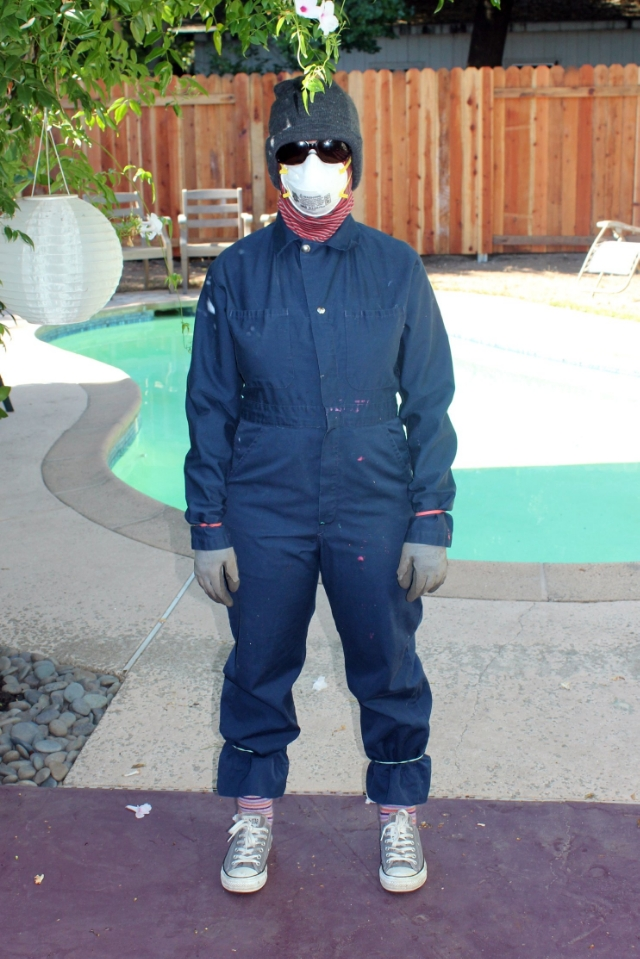Suited up and ready to spray