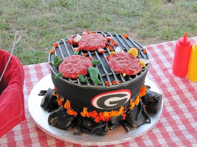 Georgia UGA Grill Cake | Flickr - Photo Sharing!