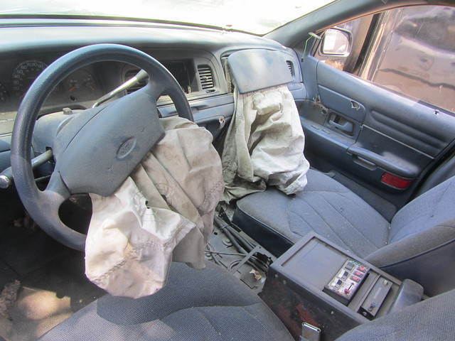 lapd ford crown victoria interior damage flickr photo sharing. Black Bedroom Furniture Sets. Home Design Ideas
