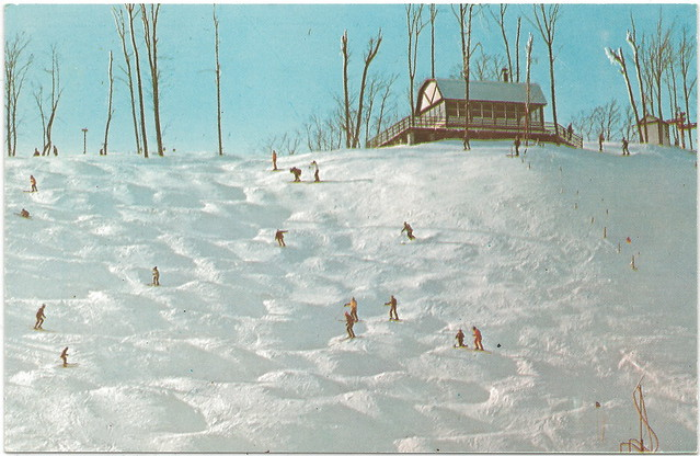 NW Cedar MI Leelanau Days Gone By Skiing at Sugarloaf Mountain Resort Will this Leelanau Mogul FUN return CPC Card 131007 Unsent