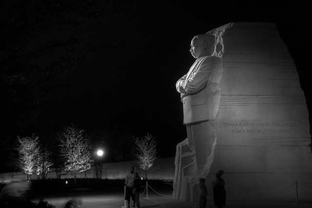 Martin Luther King Jr Memorial At Night Flickr Photo
