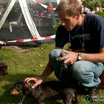 Dan with the Dachshunds at the Races - Berlin