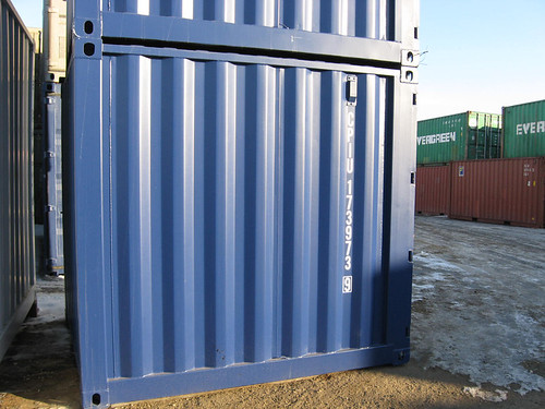 8' containers stacked