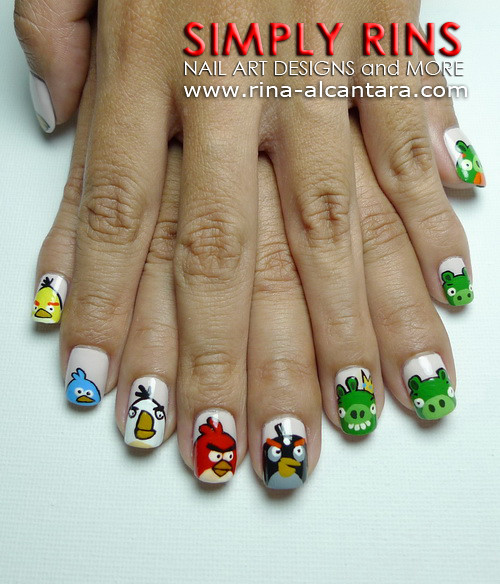 Nail Art Angry Birds Again 01