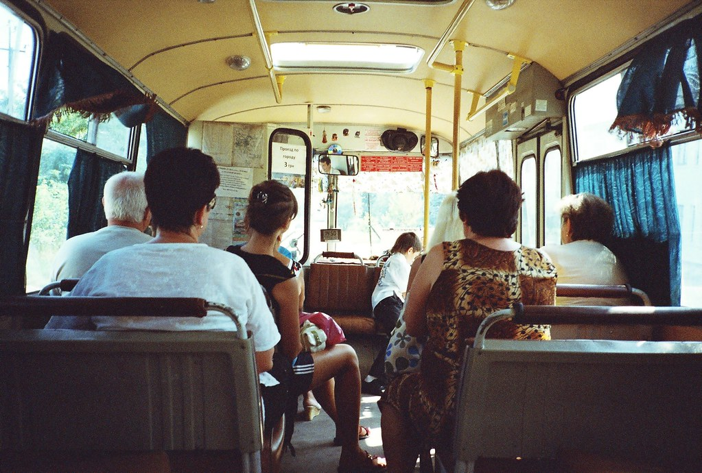 Aboard the local bus, Ukraine