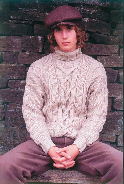 Men wearing Turtleneck wool sweater