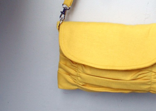 Yellow Wristlet Clutch and Small Messenger
