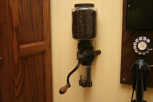 Wall Mounted Grinder ~ Craftsman bungalow kitchen wall mount coffee grinder