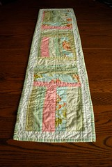 Easy Peasy table runner, pattern by Rachel Griffith at www.psiquilt.com