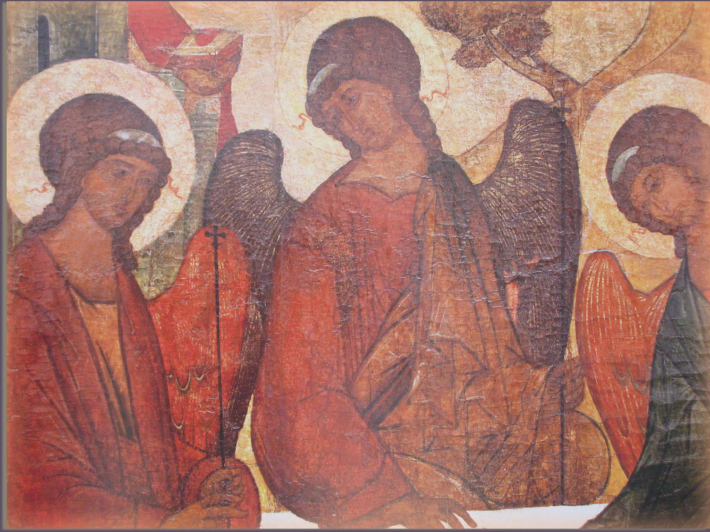The ICON of the OLD TESTAMENT TRINITY ( detail) MOSCOW _RE