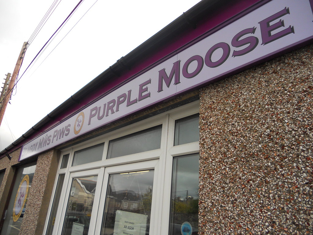 Outside the Purple Moose Brewery