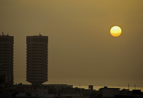 sunset sun sol puesta libya tripoli posta libia