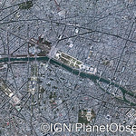 Paris city centre, France - Aerial view - IGN/PlanetObserver