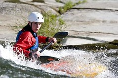 canoe(0.0), sea kayak(0.0), vehicle(1.0), sports(1.0), rapid(1.0), kayak(1.0), boating(1.0), canoe slalom(1.0), extreme sport(1.0), kayaking(1.0), whitewater kayaking(1.0), watercraft(1.0), canoeing(1.0), boat(1.0), paddle(1.0),
