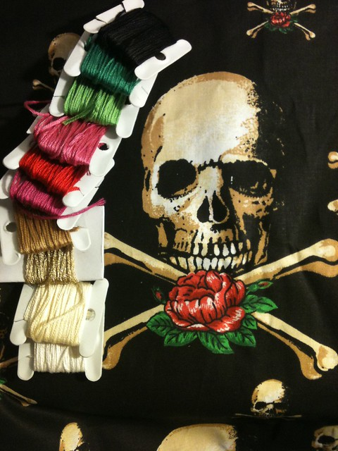 Skull Stitch-along: before