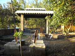 backyard, outdoor structure, pergola, pavilion, yard, estate, gazebo,