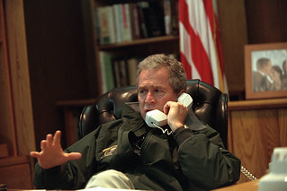 911: President George W. Bush Makes Camp David Phone Calls, 09/22/2001.