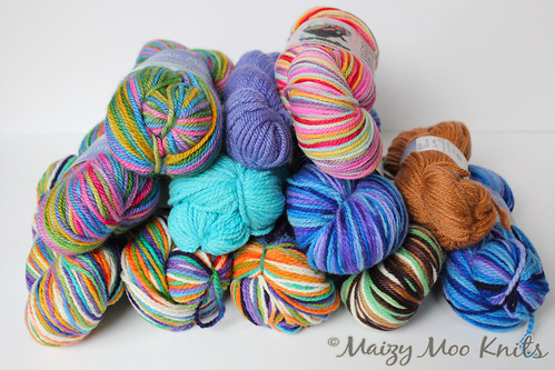 HUGE WOOL YARN DESTASH!!  Details inside...