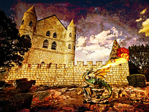 castle fire dragon fortress guardian falkensteincastle burnettx simulatedoilonwood
