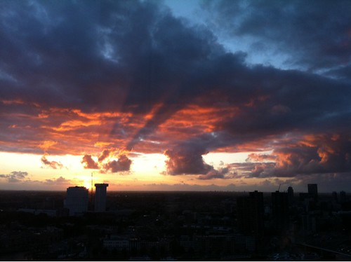 Indrukwekkende zonsondergang