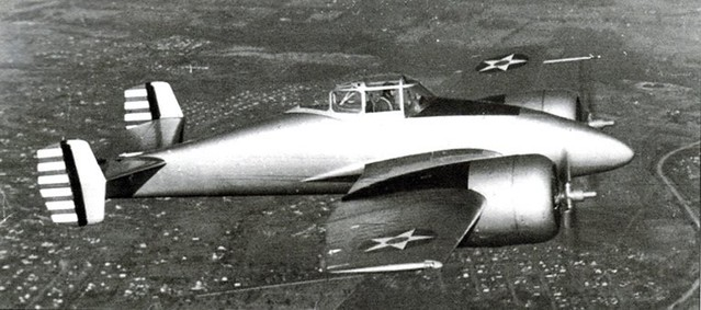 Grumman XP-50 in flight
