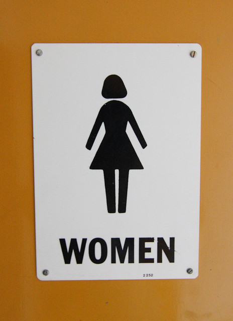Woman restroom sign flickr photo sharing for Women s bathroom sign