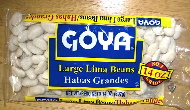 Header of lima beans