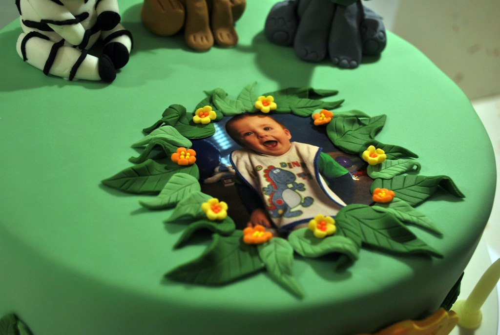 Toby S Jungle Themed 1st Birthday Cake A Photo On Flickriver