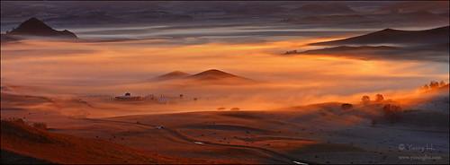 china panorama sunrise canon landscape innermongolia