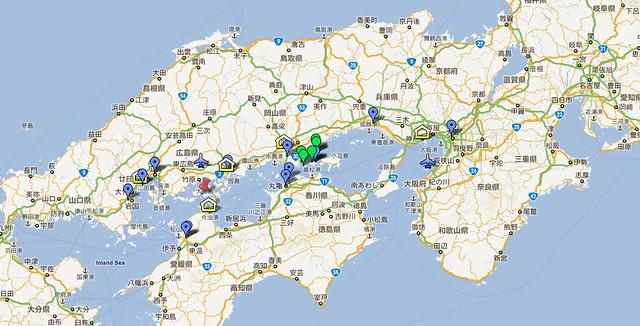 謝宗哲老師帶你去日本看建築 日本文明開化都市散步+瀨戶內海建築巡禮 2011.08.31~2011.09.05 on google maps