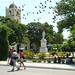 pájaros vaquero sobre la iglesia santa catalina de ricci.