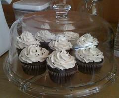 Chocolate Cupcakes with Vegan Vanilla Buttercream