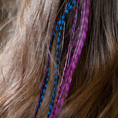 Summer Berry Shorties Feather Hair Extensions