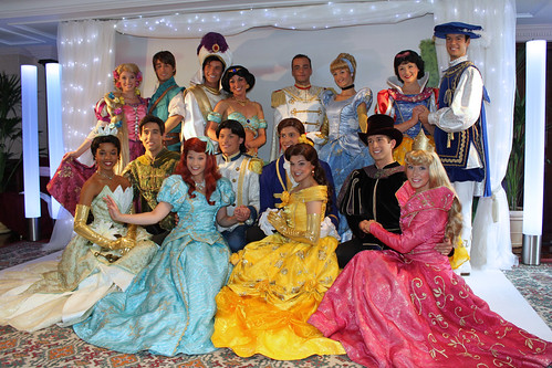 All the Disney Princes and Princesses come out to say farewell!