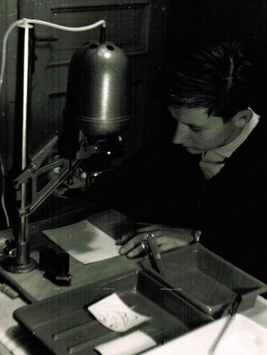 das erste Fotolabor - später eigenes Labor für die Diss, dann Labor am Gymn Olching eingerichtet