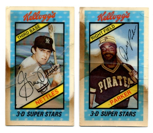 1980 Kelloggs 3 D Super Stars Cards These 3 D Baseball Ca